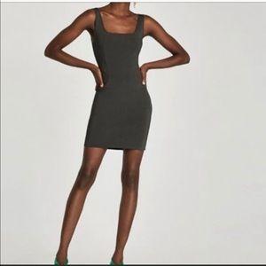 Zara Trafaluc Bodycon Dress Gray S